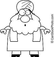 Surprised Cartoon Sikh - A cartoon illustration of a Sikh...