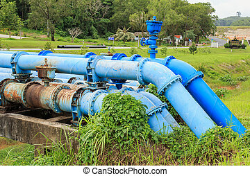 Big blue color main water supply - Big blue color main water...