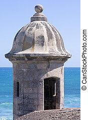 Garita at Castillo de San Cristobal in San Juan - Medievel...