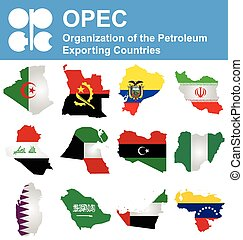 OPEC Countries - Flags of OPEC the Organization of the...