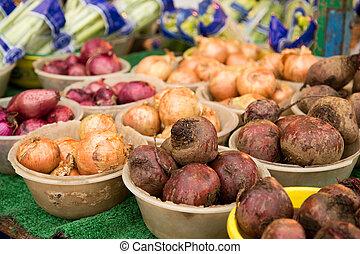 蔬菜, 市場