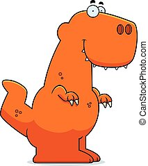 Smiling Cartoon Tyrannosaurus Rex - A cartoon illustration...