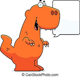 Talking Cartoon Tyrannosaurus Rex - A cartoon illustration...