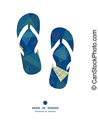 Vector abstract fabric triangles flip flops silhouettes...