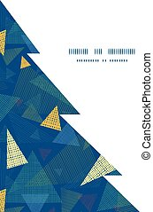 Vector abstract fabric triangles Christmas tree silhouette...