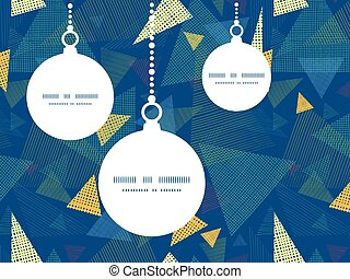 Vector abstract fabric triangles Christmas ornaments...