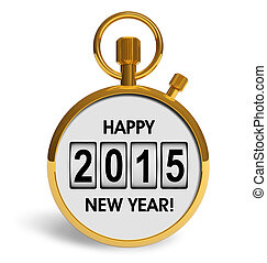 New Year 2015 concept - Creative abstract New Year 2015...
