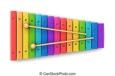 Xylophone - Creative abstract percussion musical instrument...