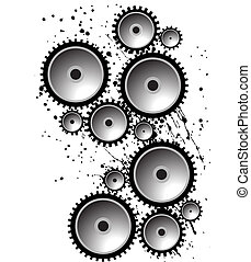 Gears image isolated on a white background.