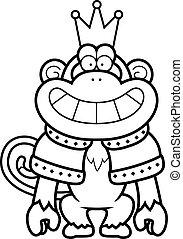 Cartoon Monkey King - A cartoon illustration of a monkey...