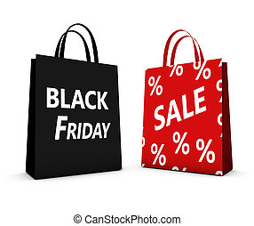 Black Friday Sale Shopping Bag - Black Friday shopping bags...