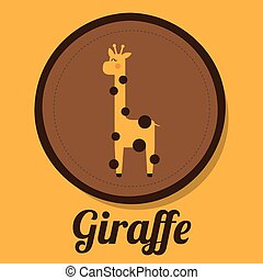 giraffe design , vector illustration