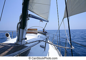 Navegación, viejo, velero, encima,...