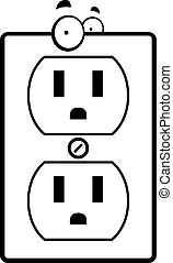 Cartoon Electrical Outlet - A cartoon electrical outlet...