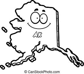 Cartoon Alaska - A cartoon illustration of the state of...