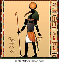 Religion of Ancient Egypt. Thoth - the ancient Egyptian god...