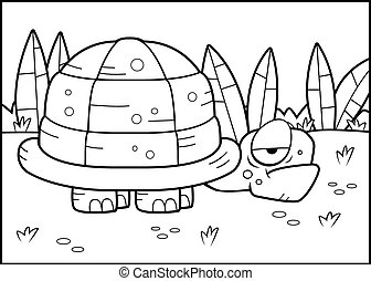 Turtle Swamp - A cartoon turtle standing in the swamp.
