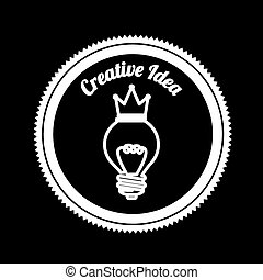Idea design over black background, vector illustration
