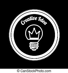 Idea design over black background, vector illustration