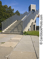 Footbridge Stairs. - Stairs of the footbridge linking...