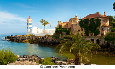 Santa Marta lighthouse and Municipal museum, Cascais,...