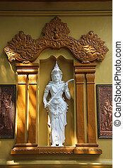 Statue Gangaramaya Temple Colombo - a statue of the...