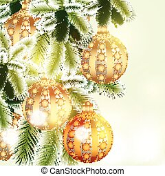 Christmas background with silver an