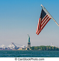 Stars and stripes - the American flag viewed from Battery...