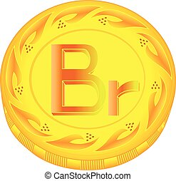 Belarus ruble coin - gold ruble, metal ruble, small change,...