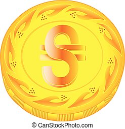 Hryvnia coin - gold hryvnia, metal hryvnia, small change,...