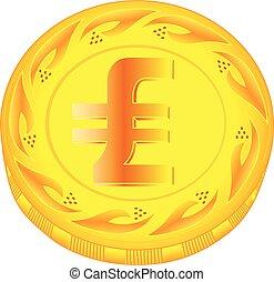 Lira coin - gold lira, metal lira, small change, pocket...