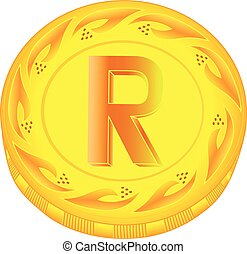 Rand coin - gold rand, metal rand, small change, pocket...