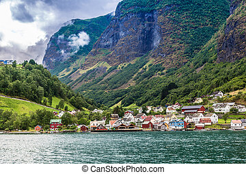 Country summer landscape, Norway - Scenic summer panorama of...