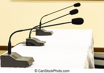 Microphones in conference room