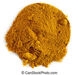 curry powder on a white background