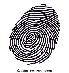 Finger Print - Ink color Finger Print on white