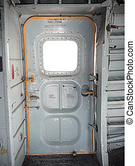 Old military aircraft door - Old military aviation aircraft...