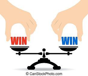 Win win concept - Win win business concept