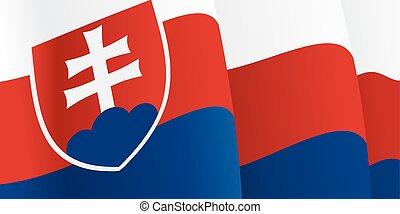 Background with waving Slovak Flag Vector illustration