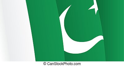 Background with waving Pakistani Flag Vector illustration