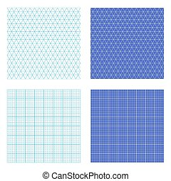 Repeating Graph Paper - Square and isometric repeating graph...