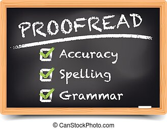 Blackboard Proofread - detailed illustration of a blackboard...