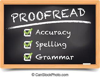 Blackboard Proofread - detailed illustration of a blackboard...