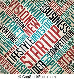Startup - Retro Word Collage. - Startup - Retro Word Collage...