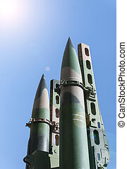 missiles - a shot of two anti-aircraft missiles