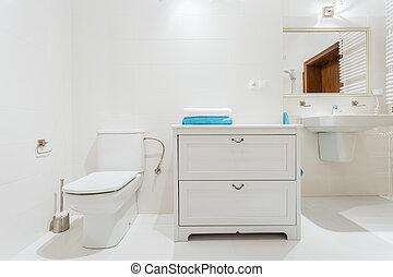 Stylish washroom - New stylish washroom with beautiful unit