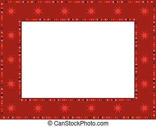 Christmas Star Frame - Christmas star patterned frame with...