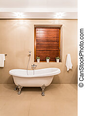 Old style bathtub - Old style white bathtub in modern...