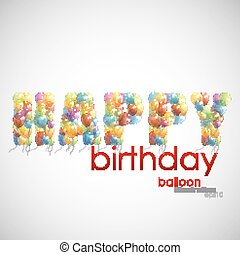 happy birthday. background with colorful balloons