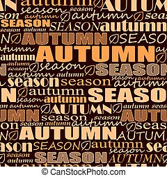 autumn background. seamless vector pattern with words